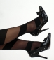 High Heels Pumps schwarz Leder look Punk Style NEU